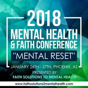 2018 Mental Health and Faith Conference flyer